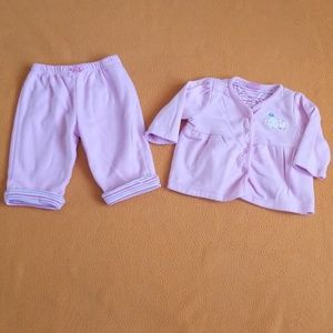 EUC The Childrens place 2 pc Baby Set 3-6 monrhs